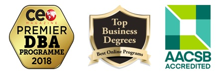 Our AACSB Accredited program is ranked as a Premier DBA Programme by CEO Magazine